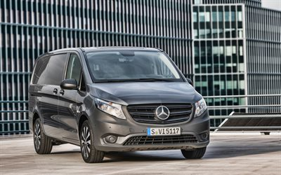 Mercedes-Benz Vito Panel Van, 4k, cargo transport, 2020 cars, minibuses, 2020 Mercedes-Benz Vito, german cars, Mercedes