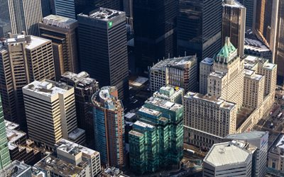 Toronto, Ontario, modern cityscape, buildings, urban landscape, view from above, aerial view, capital of Ontario, Canada
