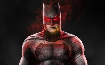 Batfleck, 4k, supeheroes, Batman, opere d'arte, Robert Pattinson, Bat-man