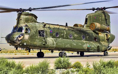 Boeing Chinook CH-47 HC2, Royal Air Force, transport aircraft, military helicopters, RAF, Chinook CH-47, Boeing, transport helicopters