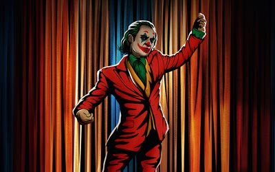 Danza del Joker, 4k, arte retrò, super criminale, fan art, creatività, Joker 4K, illustrazione, Joker