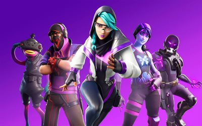 11 Fortnite Sezon, 4k, poster, 2020 oyunları, 3D sanat, Fortnite