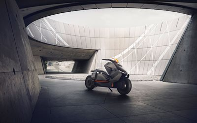 BMW Motorrad Concept Link, 2017 bikes, electric scooter, BMW