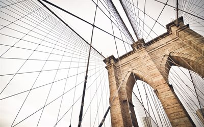 Brooklyn Bridge, New York, Brooklyn, USA, metropolis