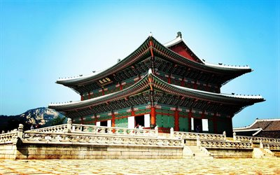 Gyeongbokgung Palace, castle, Seoul, South Korea, Asia