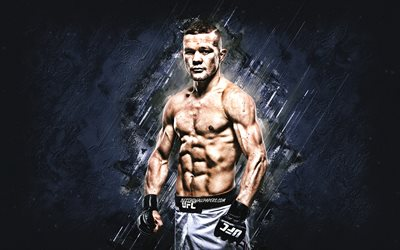 Petr Yan, UFC, Russian fighter, MMA, blue stone background, Ultimate Fighting Championships