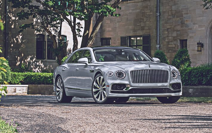 Bentley Flying Spur, 4k, lüks arabalar, 2020 arabaları, İngiliz arabaları, 2020 Bentley Flying Spur, Bentley