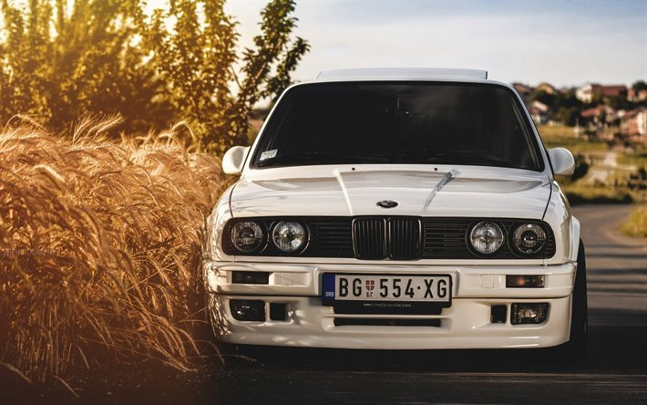 Download Wallpapers Bmw M3 E30 Front View Wheat White Bmw For