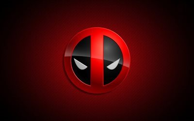 deadpool, logo, creative, red background