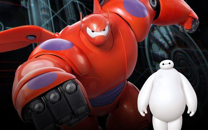 Scarica sfondi big hero 6 i personaggi baymax per desktop libero