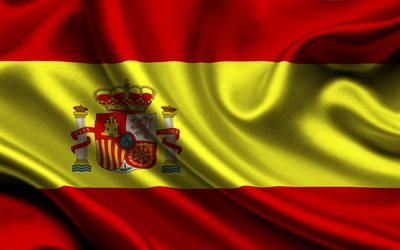 Spanish flag, silk, Spain flag, flag of Spain, symbols of Spain