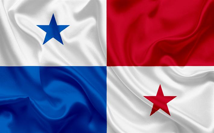 Download Wallpapers Panama Flag Panama Silk Flag National - Panama flags