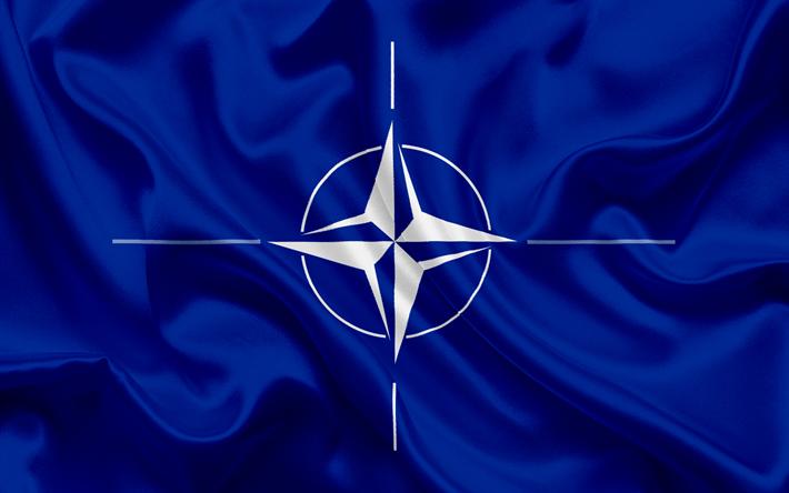العلم من حلف شمال الأطلسي, الحرير الأزرق العلم, الناتو الرموز, المنظمة  الدولية,