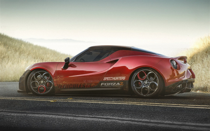 download wallpapers alfa romeo 4c coupe 2017 cars tuning. Black Bedroom Furniture Sets. Home Design Ideas