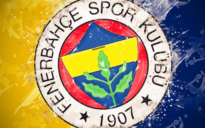 Download Imagens O Fenerbahce Sk 4k A Arte De Pintura Logo Criativo Futebol Turco Equipe Super Liga Emblema Amarelo Azul De Fundo O Estilo Grunge Istambul A Turquia Futebol Gratis Imagens Livre