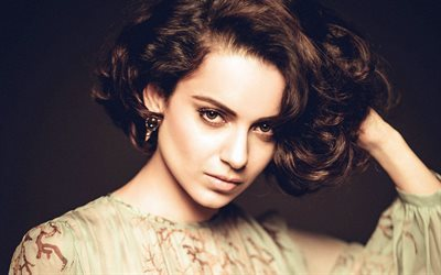 Kangana Ranaut, bollywood, Indian actress, portrait, make-up