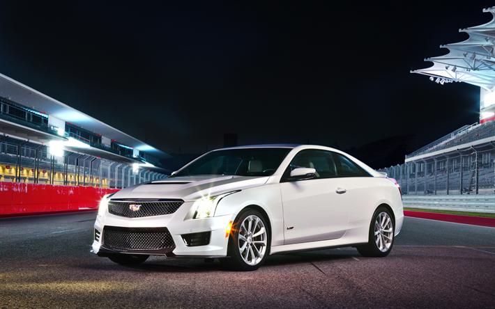 Cadillac Ats V Coupe >> Download Wallpapers Cadillac Ats V Coupe 4k 2018 Cars