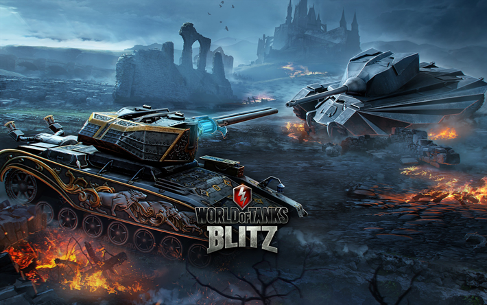 Download wallpapers World of Tanks Blitz, multiplayer online