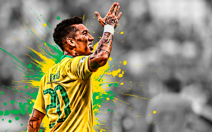 Download Wallpapers Roberto Firmino, Brazil National