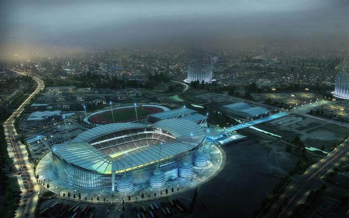 Download Wallpapers Manchester City Stadium Etihad Stadium