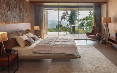 stylish bedroom interior design, modern interior, bedroom, African style, bedroom project