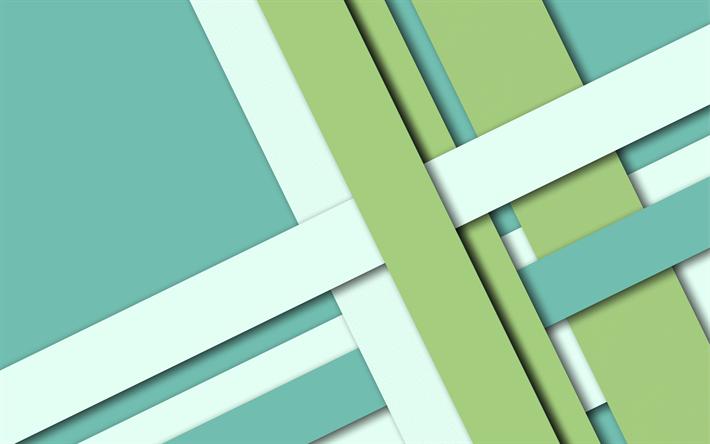 скачать обои Green Abstraction Background Material Design