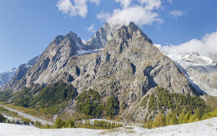 Telecharger Fonds D Ecran Mont Blanc Mont Blanc Montagne Blanche 4k Les Montagnes Le Cristal Massif Alpes France Italie Pour Le Bureau Libre Photos De Bureau Libre