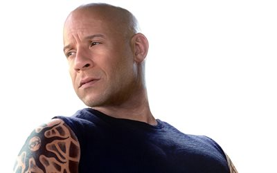 Vin Diesel, American actor, portrait, Fast and Furious 8, American celebrities, Mark Sinclair