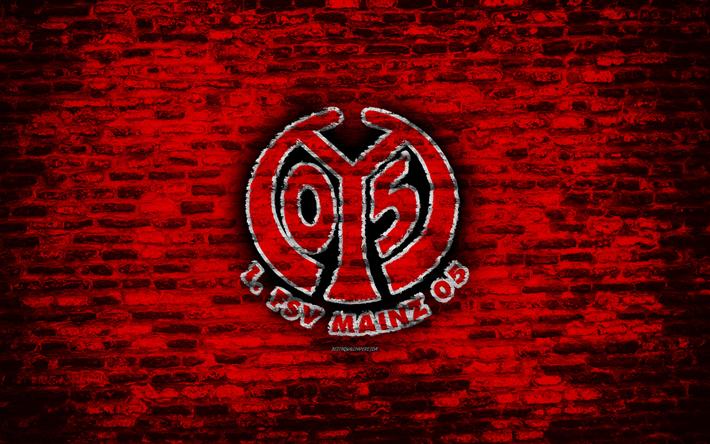 Herunterladen hintergrundbild mainz 05, fc, logo, rote ...