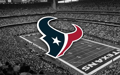 Houston Texans, NRG Stadium, American football team, Houston Texans logo, emblem, American football stadium, NFL, American football, Houston, Texas, USA, National Football League