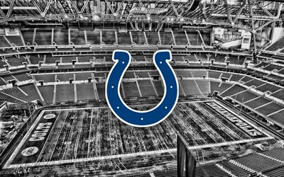 Indianapolis Colts, Lucas Oil Stadium, American football team, Indianapolis Colts logo, emblem, American football stadium, NFL, American football, Indianapolis, Indiana, USA, National Football League