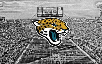 Jacksonville Jaguars, TIAA Bank Field, American football team, Jacksonville Jaguars logo, emblem, American football stadium, NFL, American football, Jacksonville, Florida, USA, National Football League