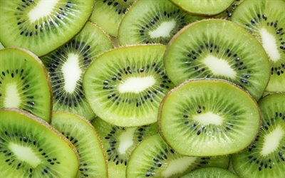 Background with kiwi, fruit background, kiwi, fruits, green background with kiwi
