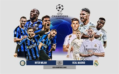 Download Wallpapers Inter Milan Vs Real Madrid Group B Uefa Champions League Preview Promotional Materials Football Players Champions League Football Match Inter Milan Real Madrid For Desktop Free Pictures For Desktop Free