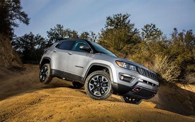 Download Wallpapers Jeep Compass Trailhawk 4k 2017 Cars Offroad New Compass Jeep For Desktop Free Pictures For Desktop Free