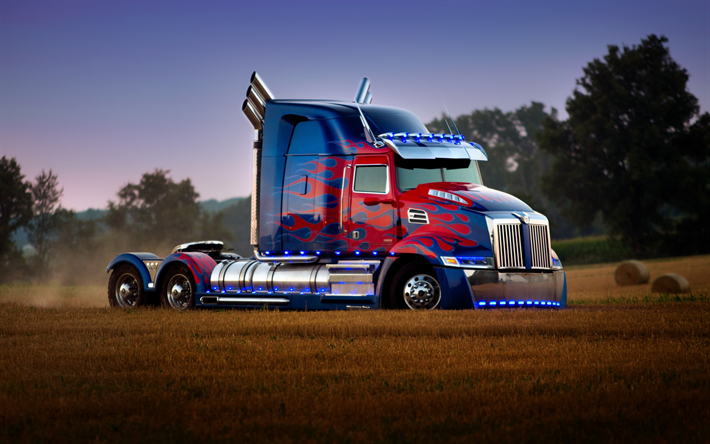 t l charger fonds d 39 cran transformers 5 le dernier chevalier optimus prime camion kenworth. Black Bedroom Furniture Sets. Home Design Ideas