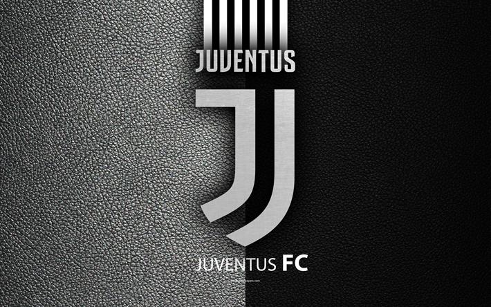 Scarica sfondi Juventus FC, 4K, il calcio italiano di club di Serie A, il nuovo logo, la