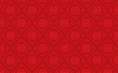 red chinese background, chinese ornaments, 4k, chinese ornament background, chinese patterns, red backgrounds