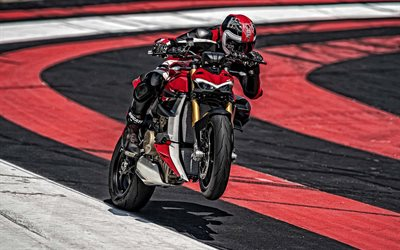 Ducati Streetfighter V4, 2020, front view, new sport bike, new black red Streetfighter V4, japanese cars, Ducati
