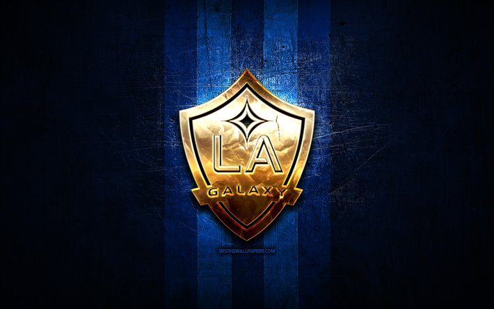 Download Wallpapers Los Angeles Galaxy Fc Golden Logo Mls Blue Metal Background American Soccer Club Los Angeles Galaxy United Soccer League Los Angeles Galaxy Logo Soccer Usa La Galaxy For Desktop Free