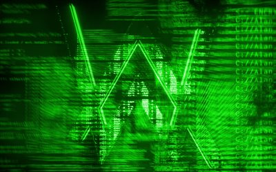 Alan Walker logo verde, creativo, arte digitale, superstar, Alan Walker logo, star della musica, Alan Walker