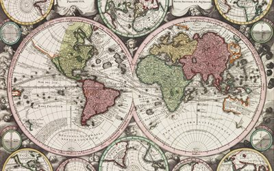 Download Wallpapers Map Of Continents For Desktop Free High