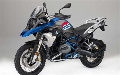 BMW R1200GS, 2017, Rallye, blue motorcycle, motorcycle BMW