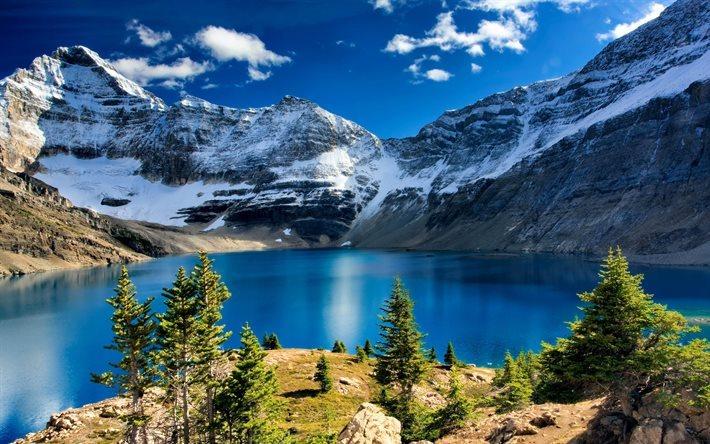Scarica Sfondi Lago Di Montagna Roccia Montagna Lago