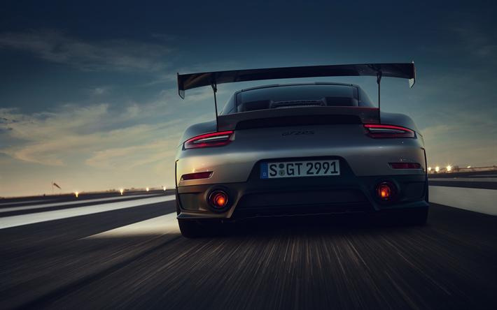Download Imagens 4k Porsche 911 Gt2 Rs Pista De Rolamento Visao Traseira 2018 Carros Desportivos Porsche Gratis Imagens Livre Papel De Parede