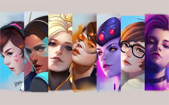 Download Wallpapers Overwatch 4k Characters Widowmaker
