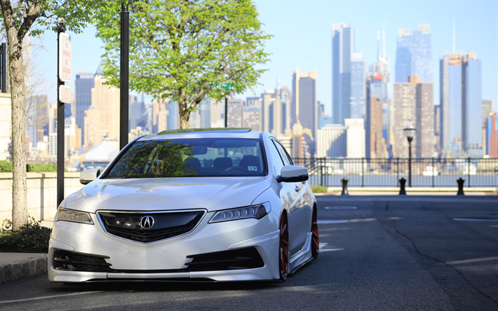 Download Wallpapers Acura Tlx Tuning Low Rider 2018