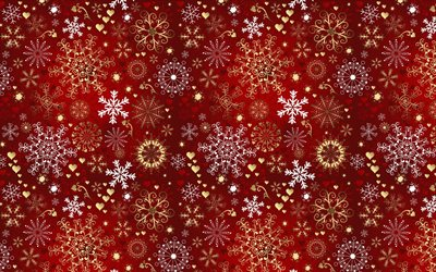 Red christmas texture, red texture with snowflakes, red christmas background, snowflakes texture, background with snowflakes, retro christmas background
