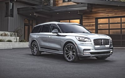 2020, Lincoln Aviator, front view, exterior, luxury SUV, new silver Aviator, american cars, Lincoln