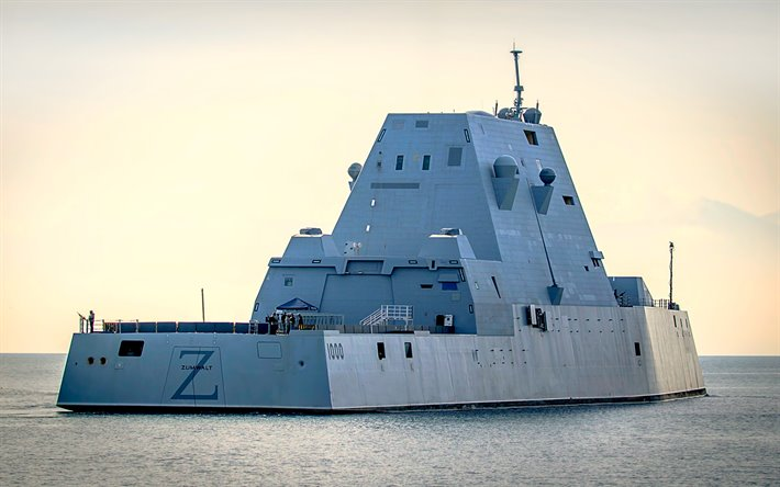 Download wallpapers USS Zumwalt, DDG-1000, guided missile ...